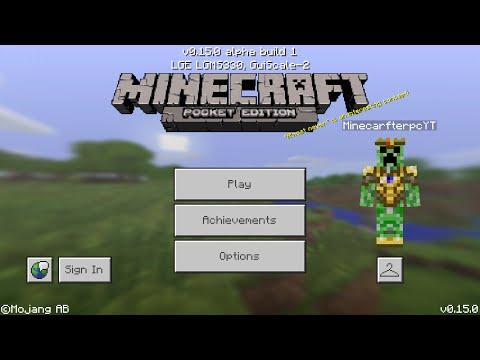 Minecraft PE 0.15.0 | MCPE 0.15.0 ALPHA BULID 1 APK RELEASED!! + APK DOWNLOAD LINK! (Pocket Edition)