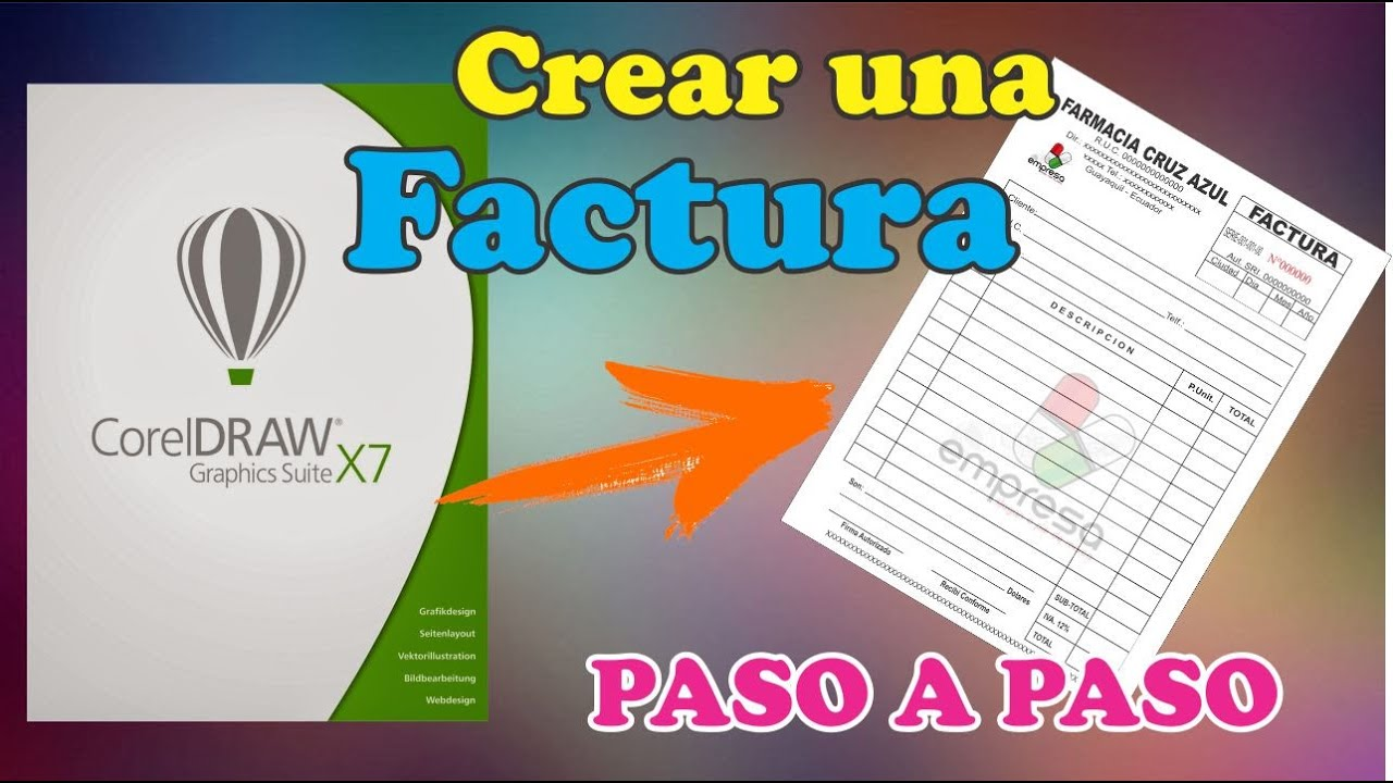 COMO CREAR UNA FACTURA PROFESIONAL EN COREL DRAW X7 PASO A PASO 2016 ...
