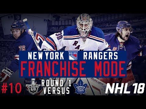 "New York Rangers Franchise #10 | ""Playoffs Round 1 vs Toronto"" (NHL 18 Franchise Mode)"