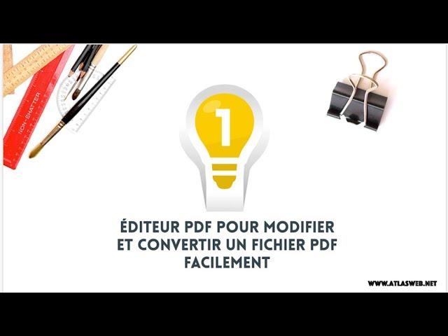 Comment modifier et convertir un fichier PDF facilement (PDF scannés )