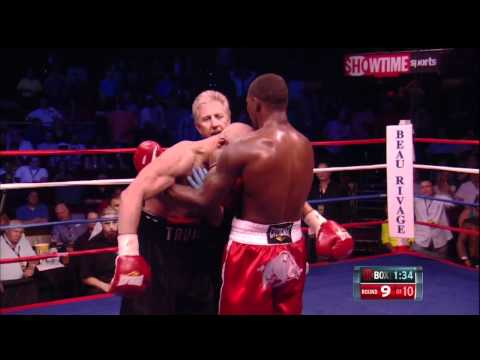 Jermain Taylor Knocked down  by Caleb Truax 720p HD