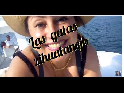 (8)  CÓMO LLEGAMOS A PLAYA LAS GATAS ZIHUATANEJO - RECORRIDO POR LA PLAYA - Lorena Lara