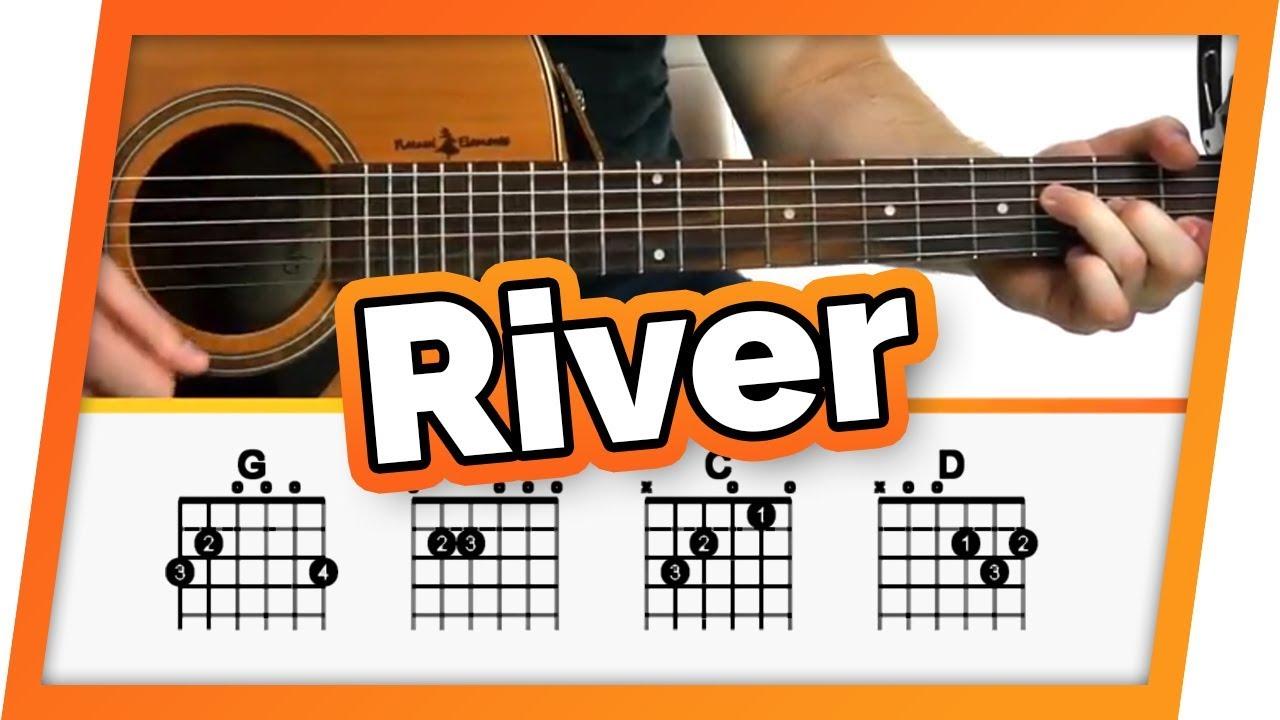 River Eminem Ft Ed Sheeran Guitar Tutorial Lesson For