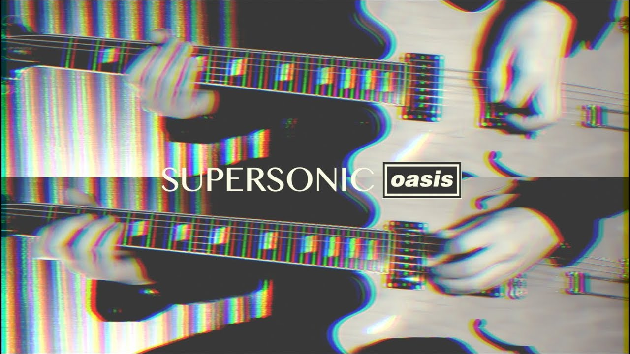 Supersonic - Oasis ( Guitar Tab Tutorial & Cover )