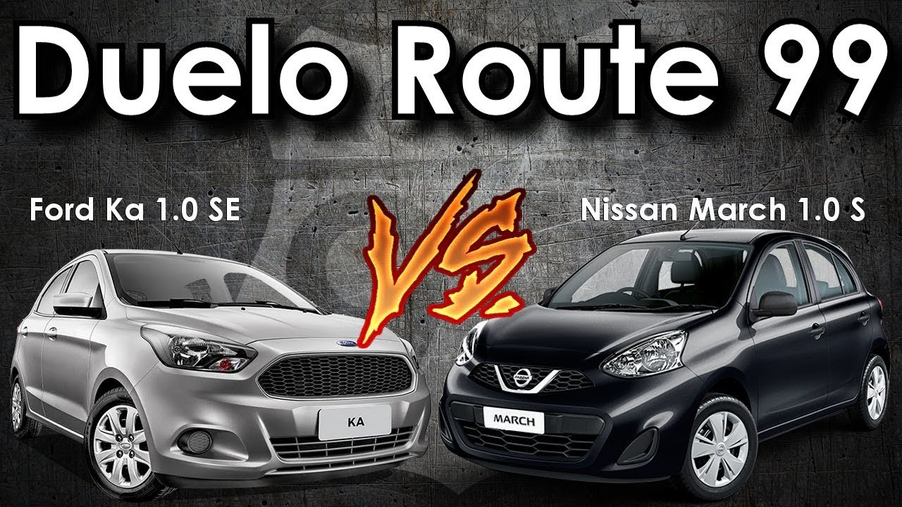 Duelo Route  Ford Ka   Se Vs Nissan March   S