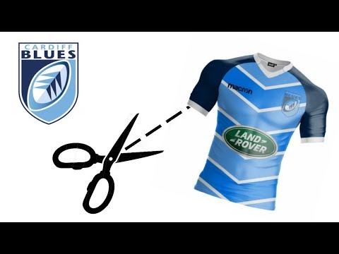 Remaking Cardiff Blues Rugby Kit #MMKF