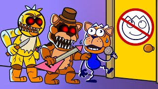 FNAF Security   Max Can't Get To Sister Location   Max's Puppy Dog Funny Animation