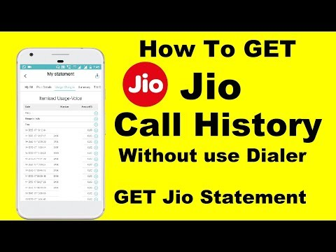 How to get call history of jio number, call and sms details