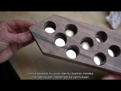DIY WALL MOUNTED KNIFE BLOCK   MAGNETIC - with subtitle