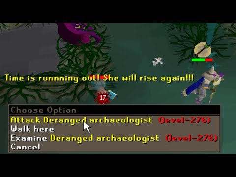 Testing NEW (OSRS Boss) Deranged Archaeologist