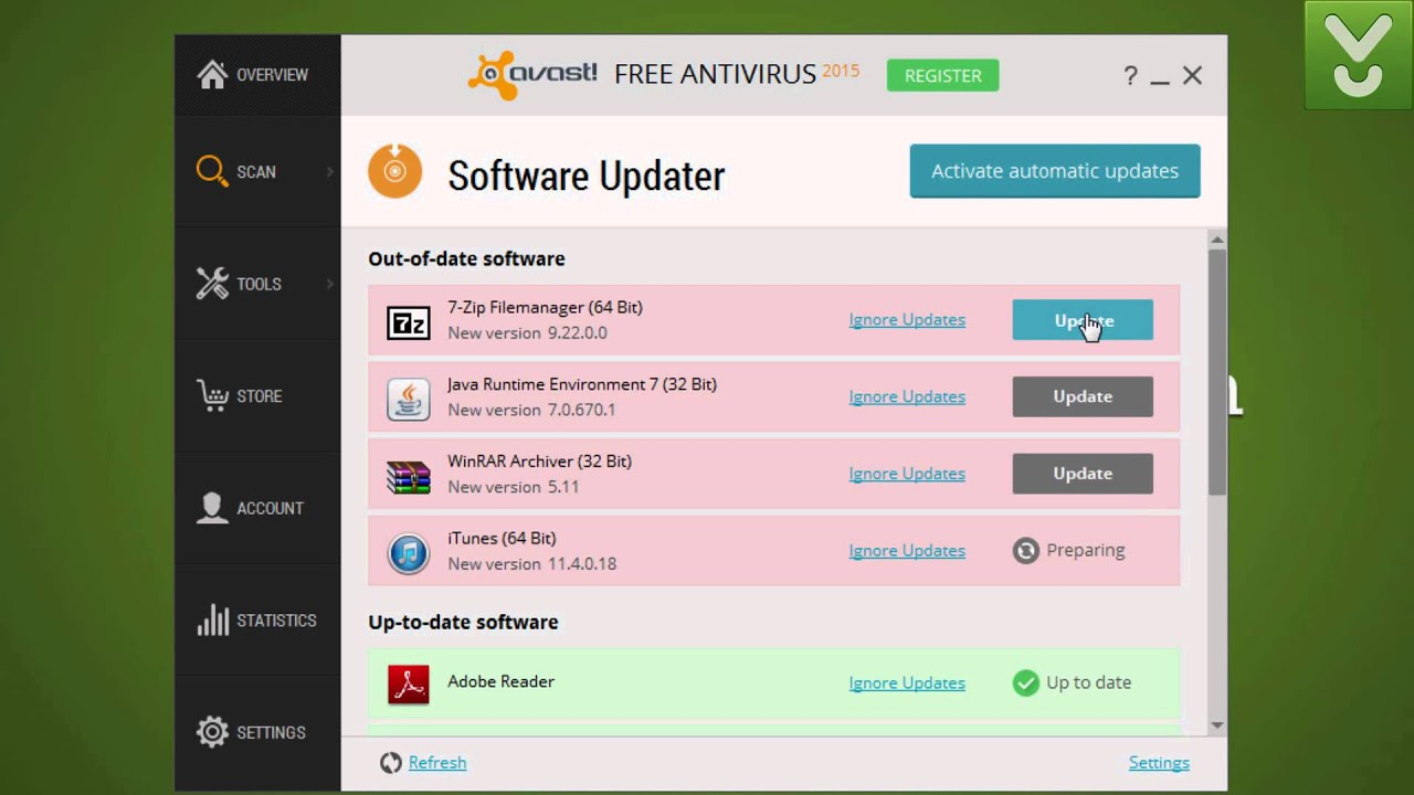 avast not protected