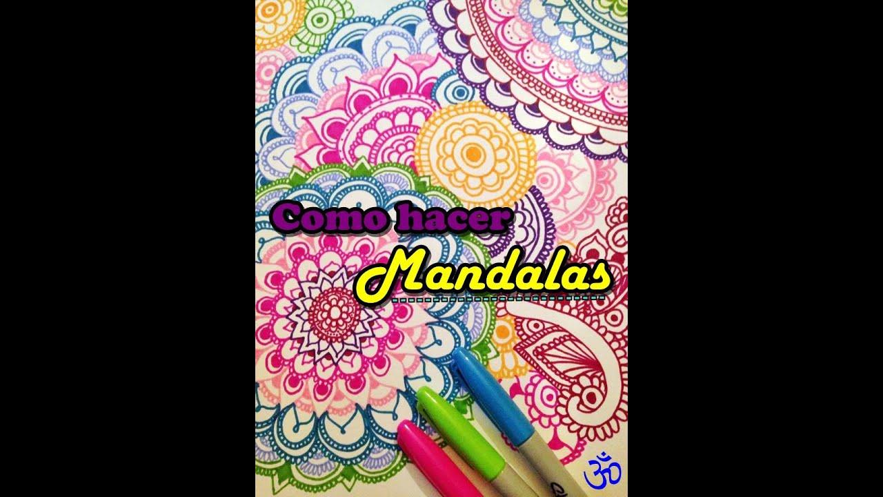 Como hacer Mandalas Zentangle DIY YouTube