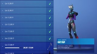 "UNLOCKING - NOUVEAU LYNX ""CAT FLIP"" EMOTE in Fortnite Battle Royale Saison 7 Lynx Challenges"