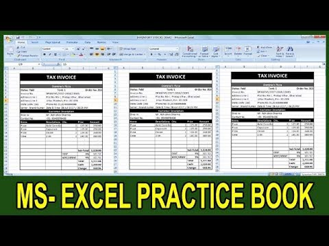 Exercise 65 | Excel Practice Book | How To Make Tax Invoice With GST Ms Excel