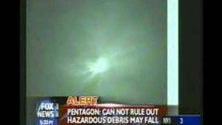 Spy Satellite shot down footage from launch to hit