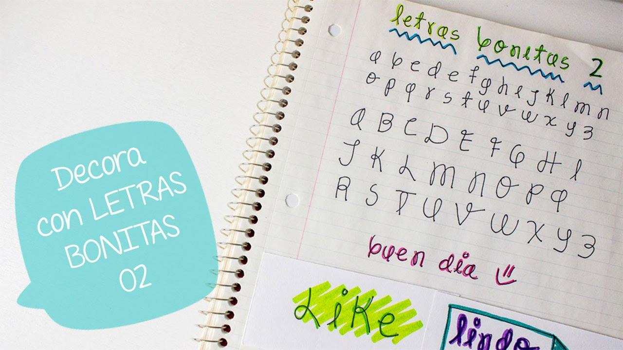 Escribe bonito con letras decorativas 2 bigcrafts youtube - Como hacer letras decorativas ...