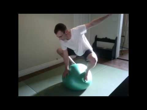 BJJ solo drill for beginner with stability ball