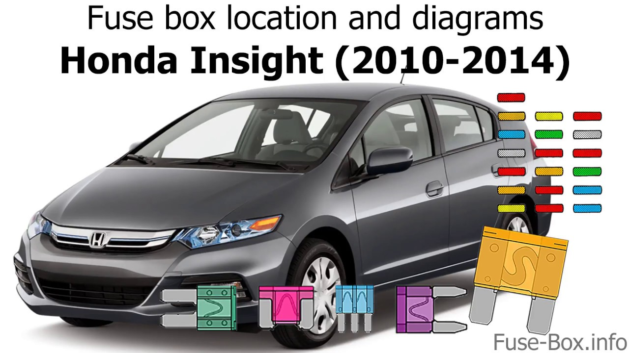 fuse box location and diagrams honda insight 2010 2014  [ 1280 x 720 Pixel ]