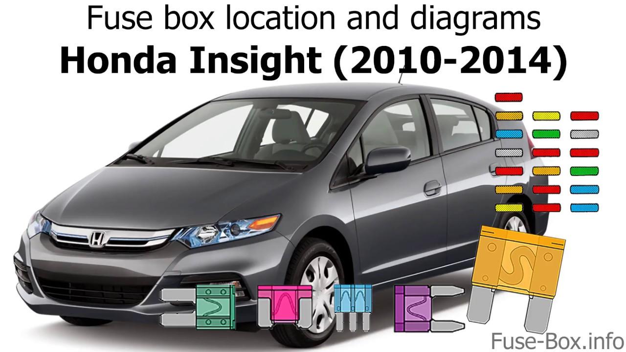 Fuse box location and diagrams: Honda Insight (20102014)  YouTube