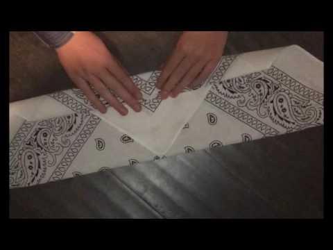 How to fold a bandana headband