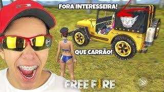 ACHEI A INTERESSEIRA DO JEEP  DOURADO NO DUO ALEATÓRIO DO FREE FIRE!