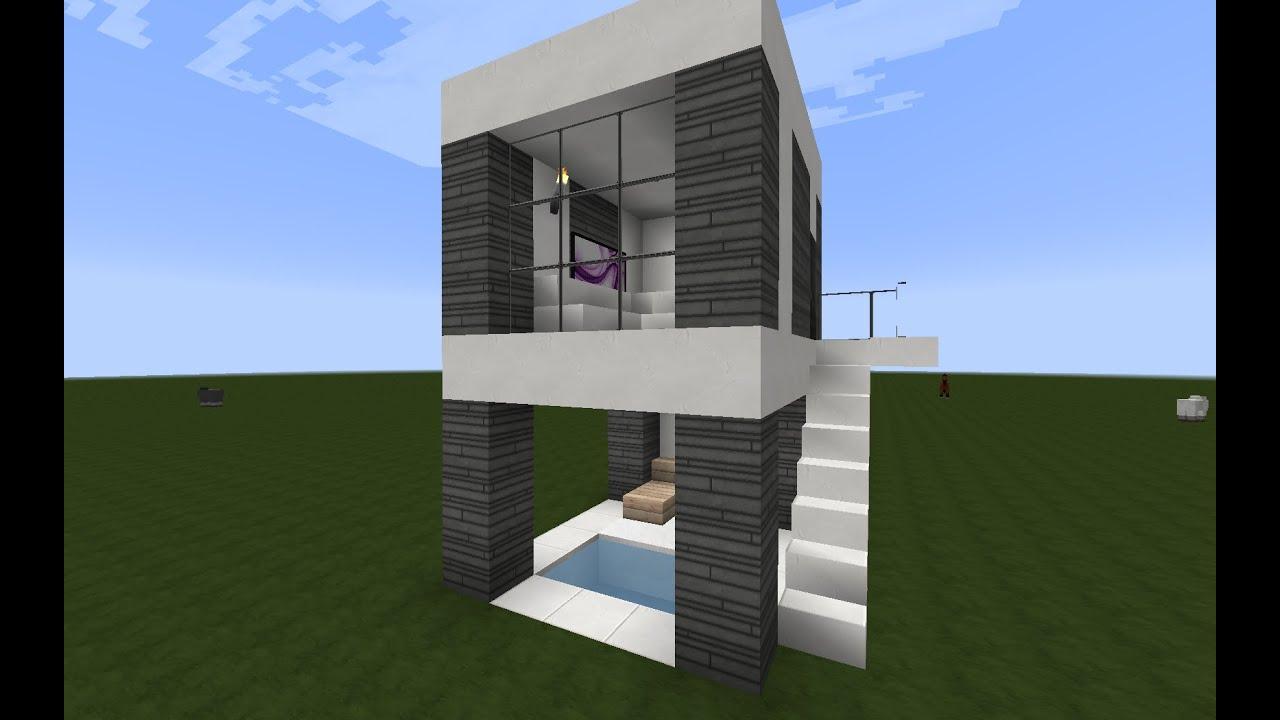 Como hacer una casa moderna para minecraft 6x5 l 2 for Casa moderna para minecraft