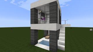Como aser una casa moderna en minecraft 1 7 2 asta 1 5 2 for Mirote y blancana casa moderna