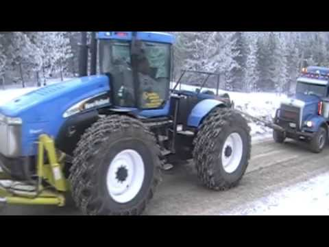 Tow tractor in the oil patch