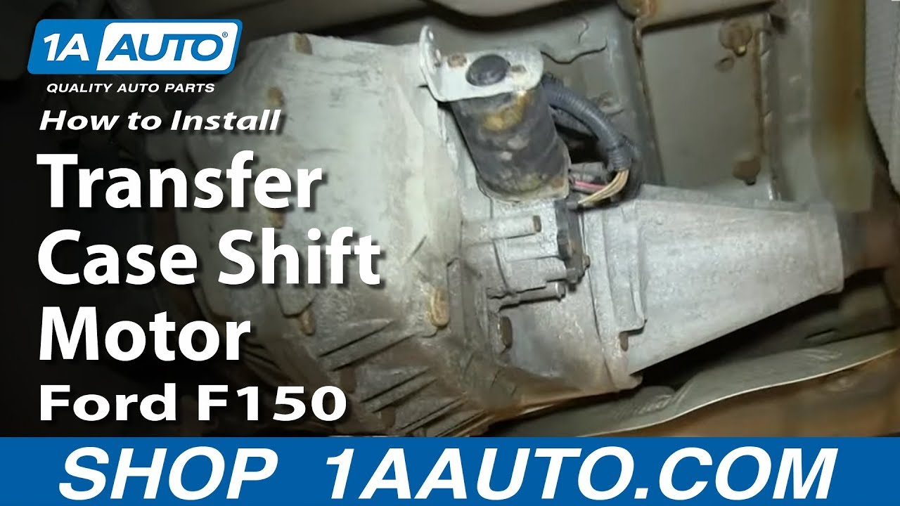 how to replace 4x4 transfer case shift motor 04-08 ford f150  1a auto parts