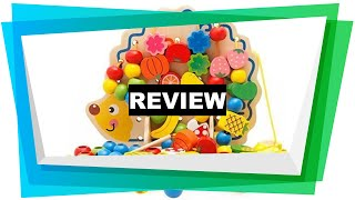 Review Eshowy Wooden Fruits and Vegetables Lacing & Stringing Beads Toys with [2019]