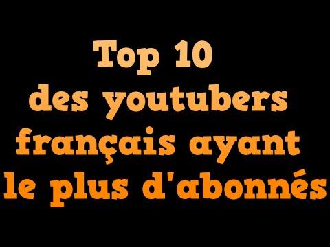 top 10 des youtubers fran ais avec le plus d 39 abonn s youtube. Black Bedroom Furniture Sets. Home Design Ideas