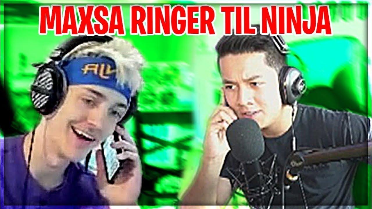 MAXSA RINGER TIL NINJA PÅ STREAM!! | Jeg tog alle klip med....