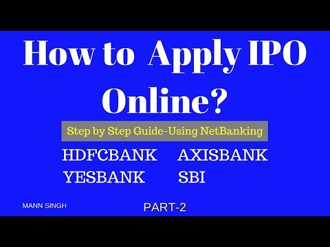 How to Apply IPO Online via Netbanking-Yesbank Part 2