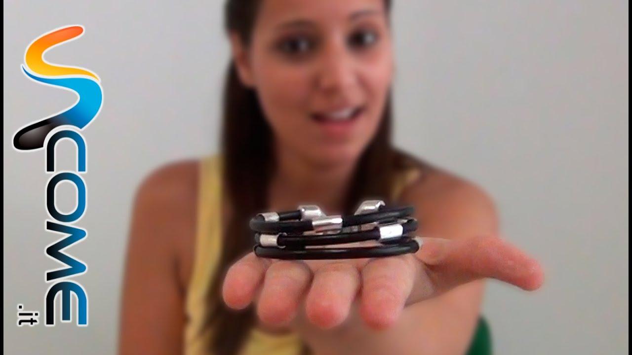 Famoso Fare un braccialetto con 3 corde di cuoio - YouTube YS87