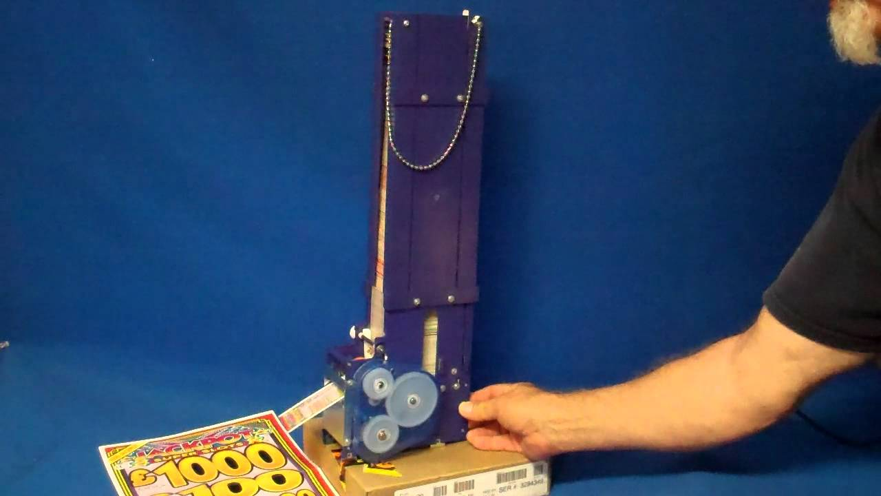 Free Scratch Cards >> Card & Ticket Dispenser Mechanism - YouTube