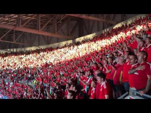 Euro 2016 Portugal-Wales: Wales Fans sing national anthem Hen Wlad Fy Nhadau