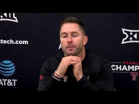 Kliff Kingsbury + Players Post Iowa State