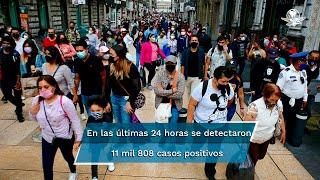El subsecretario de Salud, Hugo López-Gatell, detalló que al corte del miércoles se aplicaron 730 mil 529 dosis de la vacuna contra Covid en México