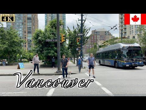 🇨🇦Vancouver Walk - Yaletown -【4K 60fps】