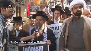Neturei Karta at mass Quds Day rally in London