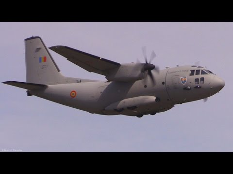 C27 Spartan and C130 Hercules Airshow Display Flights-Steep Landing-Fighter Jet Formation-BIAS2015