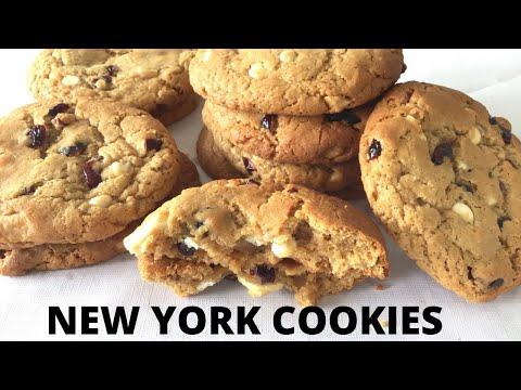 easy-chocolate-&-cranberries-cookies|super-facile-new-york-cookies-chocolat-blanc-et-cranberries