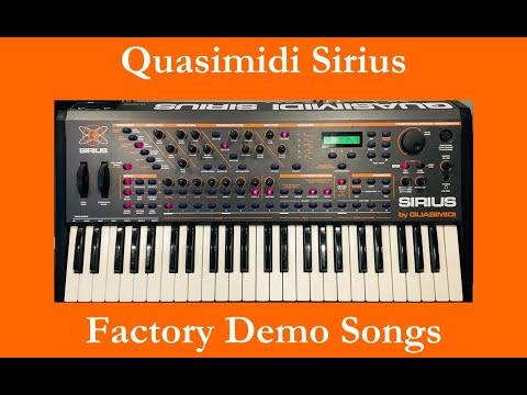Quasimidi Sirius - Démos internes - Factory Demo Songs