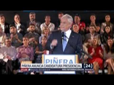 Sebastián Piñera lanza su candidatura presidencial