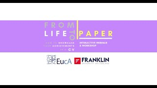 From Life to Paper | Webinar | EucA's Career Counseling Project