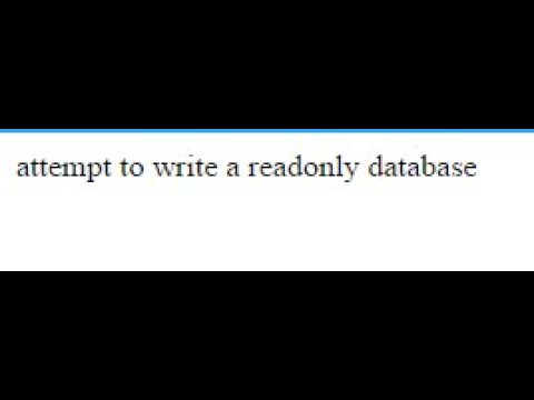 sqlite attempt to write a readonly database