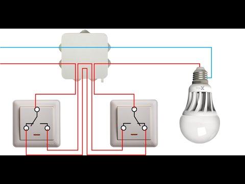 Видео: Проходной выключатель.