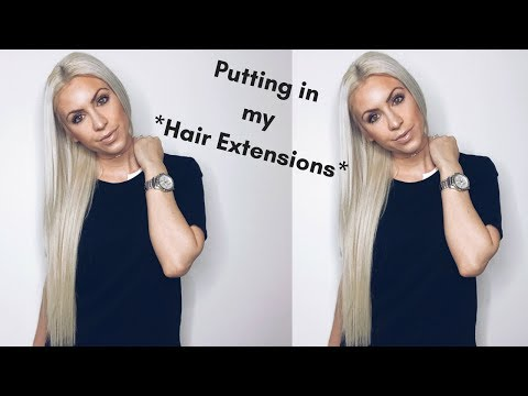 TUTORIAL: Installing Tape In Hair Extensions