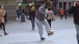Cristiano Ronaldo Fools Everyone Performing Soccer Tricks in Disguise