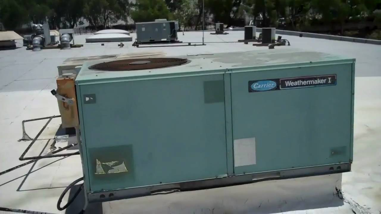 Hvac Here Is A Carrier Packaged Unit And A York Youtube